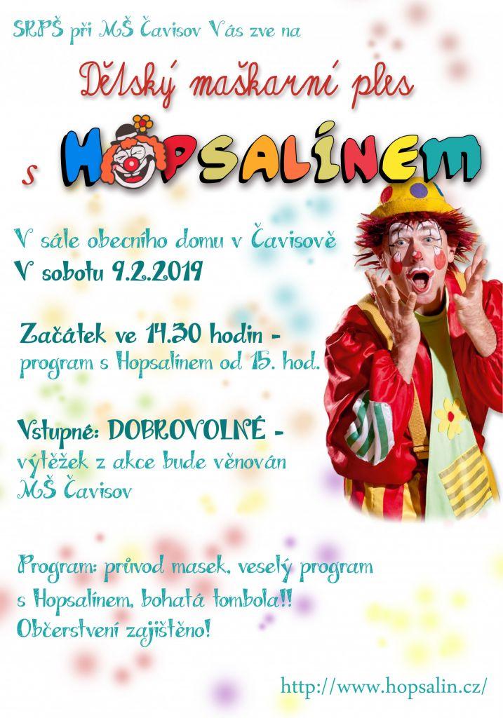 Dětský maškarní ples s Hopsalínem 1